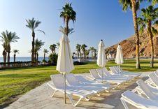 Resting Area Near Resort Hotel, Eilat, Israel Royalty Free Stock Image