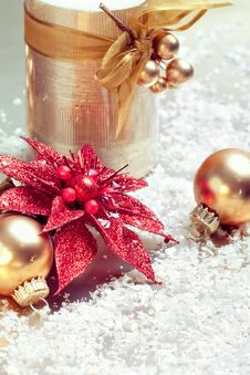 Free Christmas Composition With Decorations Stock Photo - 22320700