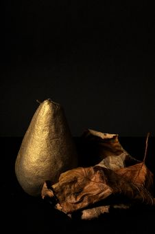 Golden Pear Isolated Stock Images