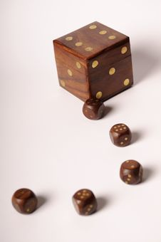 Free 6 Dices For Casino Games Royalty Free Stock Photos - 22329718