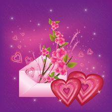 Free Beautiful  Valentine S  Day Card Royalty Free Stock Images - 22330659