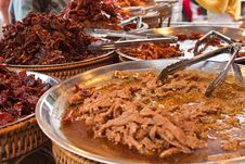 Fried Pork ,Dried Meat , Fried Meat Stock Photography