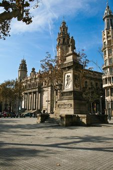 Free Post Office Barcelona Royalty Free Stock Photo - 22334615