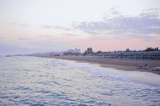 Evening Seaside Royalty Free Stock Photography