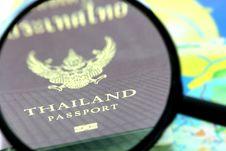 Free Thailand Passport Zoom Stock Image - 22335291