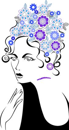 Free Woman With A Flower Hair Stock Photography - 22338422