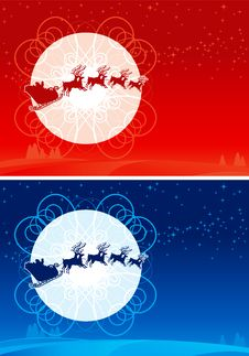 Free Santa Claus Sleigh Royalty Free Stock Images - 22338529