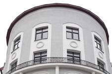 Free Building With Rounded Facade And Balustrade Stock Photography - 22339112