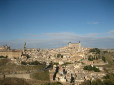 Panorama Of The Old Spanish City Of Toledo. Royalty Free Stock Photography