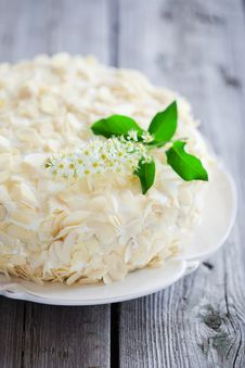 Bird Cherry Cake Stock Photography