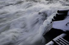Free Ice Waterfall Storforsen Stock Photography - 22341562