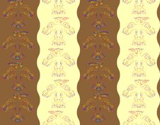 Free Pattern With Abstract Birds Royalty Free Stock Photography - 22344557