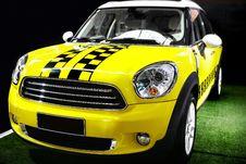 Free Yellow Mini Car Royalty Free Stock Photos - 22345018