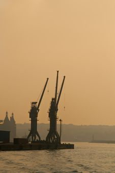 Ship Cranes Stock Images