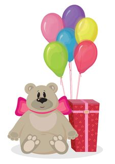 Free Bear Gift 2 Stock Photo - 22347360