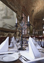 Free Candlestick Stands On The Served Table Royalty Free Stock Photos - 22352468