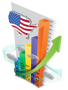 Raising Economy Chart Royalty Free Stock Images