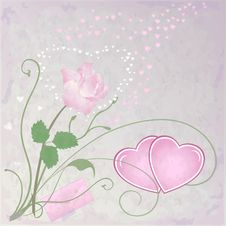 Free Vector Romantic Background Royalty Free Stock Photo - 22352035