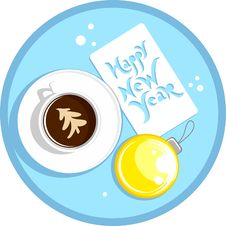 Free New Year Coffee Cup Stock Image - 22353301