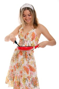 Free Housewife Making Breakfast Stock Photos - 22354293