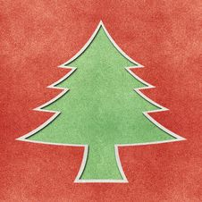 Free Christmas Tree Recycled Papercraft Background Royalty Free Stock Photos - 22356538