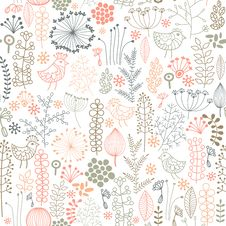 Free Seamless Floral Background Stock Images - 22357184