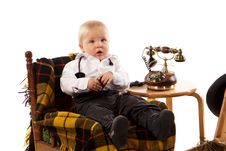 Free Cute Baby Boy Royalty Free Stock Photography - 22357287