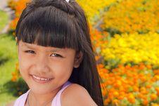Free Little Girl Smile Stock Image - 22357571
