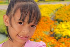 Free Little Girl Smile Royalty Free Stock Images - 22357579