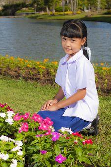Free Little Girl Smile Royalty Free Stock Photo - 22357795
