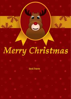 Free Christmas Greeting Card Royalty Free Stock Photo - 22357845