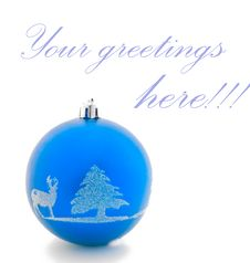 Free Blue Christmas Ball Stock Images - 22358174