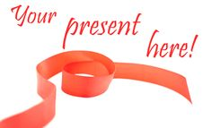 Free Red Ribbon With Text Stock Photography - 22358222