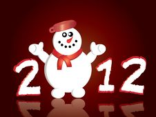 Free Happy New Year Greeting Card Stock Photos - 22359443