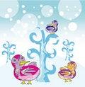 Free Funny Birds In Winter Garden Stock Photos - 22362763