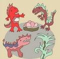 Free Funny Dinos Illustration Stock Photos - 22362793