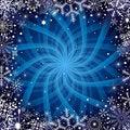 Free Christmas Dark Blue Frame Royalty Free Stock Photo - 22369385
