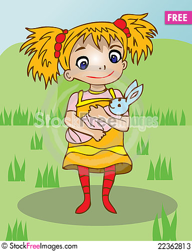 Free Girl With Baby Toy Image Stock Photos - 22362813