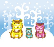 Free Funny Bears At Winter Stock Photos - 22362743