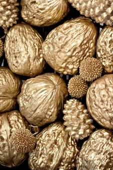 Free Golden Nuts Stock Photos - 22363413