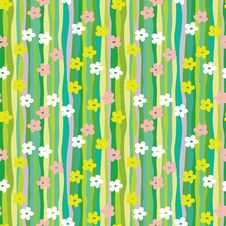 Free Spring Retro Pattern Royalty Free Stock Photography - 22363827