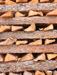 Free Firewood Stacked In A Pile Royalty Free Stock Image - 22364416