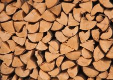 Free Firewood Stacked In A Pile Royalty Free Stock Photography - 22364487