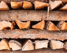 Free Firewood Stacked In A Pile Royalty Free Stock Images - 22364529