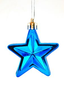 Free Blue Star  For Christmas Tree Stock Images - 22364914