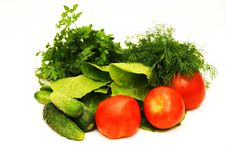 Free Vegetables, Tomatoes, Cucumbers, Salad, Parsley, F Stock Photos - 22366993
