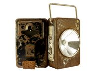 Rusty Lamp Batteries Stock Images