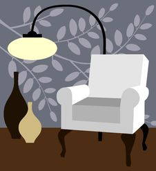 Free White Armchair On Natur Blue Background Stock Photos - 22369603