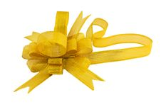 Free Golden Gift Bow Stock Photography - 22369942