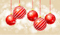 Free Сhristmas Background With Baubles Royalty Free Stock Images - 22375359